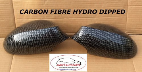 BMW3 SERIES E90/91 05-08 PAIR OF WING MIRROR COVERS HYDRO DIPPED IN CARBON FIBRE (1)